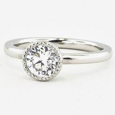 Platinum Sierra Ring. Set with a 0.82 Carat, Round, Super Ideal Cut, E Color, VS2 Clarity Diamond #BrilliantEarth