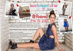 Choose your favourite Daisystreet.co.uk item from the 'PIN TO WIN' board and repin it to your pinterest page and make sure to follow us and hashtag #Daisywin! Five lucky winners will be picked at random to recieve their chosen item! So let's get pinning!! Sams, Giveaways, Competition, Let It Be, Street, Random, Board, Walkway, Casual
