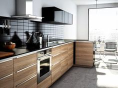 new IKEA kitchen 2015 design and reviews, dark surface wood cabinets