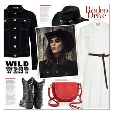 """""""Wild West Style"""" by mada-malureanu ❤ liked on Polyvore featuring Valentino, Mint Velvet, Master Hatters of Texas, Rebecca Minkoff, cowgirl, polyvoreeditorial and wildwest"""