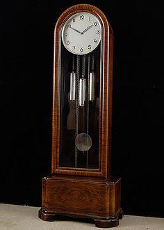 Kienzle Art Deco style Grandfather Clock: Three Chimes and Silent Mode Brown Clocks, Big Clocks, Antique Clocks, Vintage Clocks, French Antiques, Vintage Antiques, Grandfather Clocks, Antique French Furniture, Vintage Interiors