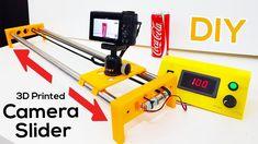 Build a Motorized Camera Slider - Printed DIY 3d Printer Price, 3d Printer For Sale, 3d Printer Software, Best 3d Printer, Diy Camera Slider, Remote Control Drone, 3d Printer Designs, Aircraft Design, 3d Prints