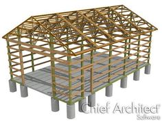 Creating a Traditional Pole Barn Structure | Chief Architect Knowledge Base