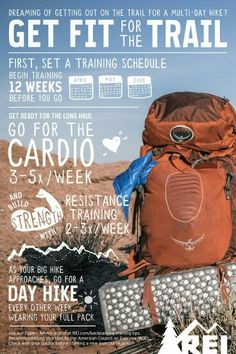 Thru-Hiking: Training Tips and Exercises How to get fit for the Trail. Thru-Hiking: Training Tips and Exercises. Whether you're gaining elevation or out for a joyous weekend adventure with friends, training can help make any trip more enjoyable. Backpacking Training, Backpacking Tips, Hiking Tips, Hiking Gear, Hiking Backpack, Travel Backpack, Ultralight Backpacking, Hiking Boots, Travel Luggage