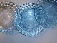 Vinatge Anchor Hocking Bubble Glass Plates by energyforthesoul, $15.00