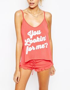 Image 3 of Wildfox Valentines You Lookin For Me Pyjama Set