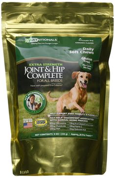 Vetritionals Joint and Hip Complete Daily Therapeutic Soft Dog Chews, 8 oz * You can get more details by clicking on the image.