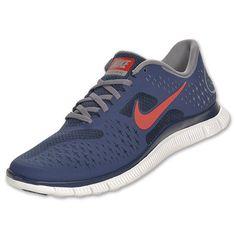 Mens Nike Free 4.0 V2| Midnight/University Red/Charcoal/White.