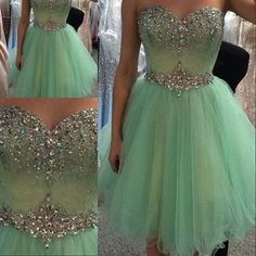 Prom Dresses Online Shopping New Sweetheart A Line Lace Up Prom Dresses 2015 Custom Made Crystal Beaded Short Party Gowns Girls Home Coming Gowns 2016 New Fashion Prom Dresses Designer From Cc_bridal, $124.61| Dhgate.Com