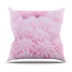Kess InHouse Debbra Obertanec Cupcake Pink Sparkle Outdoor Throw Pillow - DO1015AOP0