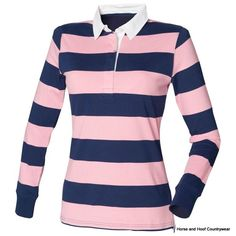 62e73685 Front Row Co Women s Striped Rugby Shirt Engineered full stripe rugby shirt  Slimmer fit shaped