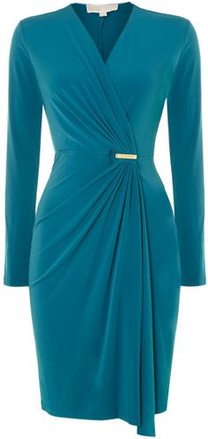Michael Kors 34 Sleeve Wrap Dress