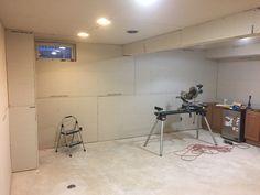 Finishing a Basement hanging drywall