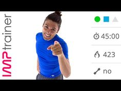 Allenamento Cardio Intenso Senza Salti Per Gambe, Glutei e Addome - YouTube
