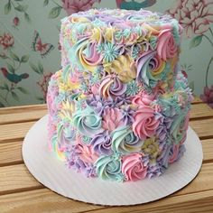 This Baker's Pastel Cake Creations Will Give You Magical Uni.- This Baker's Pastel Cake Creations Will Give You Magical Unicorn Vibes This Baker's Pastel Cake Creations Will Give You Magical Unicorn Vibes - Pretty Cakes, Cute Cakes, Yummy Cakes, Cake Cookies, Cupcake Cakes, Kid Cakes, Fruit Cupcakes, Pastel Cakes, Colorful Cakes