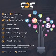 "CDC IT SERVICES- A London based digital marketing & complete web development company, we believes the perfect plan, right execution, effective online marketing strategies, and appropriate technology help in bringing your targeted audience, which will help closer to your brand online, products, and services. We specialize in all ""digital services"" to solve your business problems and help to drive success. Appropriate Technology, Online Marketing Strategies, Web Development Company, Closer, Digital Marketing, Bring It On, Success, London, How To Plan"