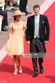 News Photo : Prince Joachim of Denmark and his wife Princess... Princess Marie Of Denmark, Princess Charlene, Princess Mary, Religious Ceremony, Charlene Of Monaco, Prince Albert, Shirt Dress, Palace, Wedding