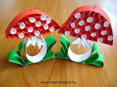Manualitats de tardor: bolets per fer amb els nens. Utilitzant materials com paper, tubs de cartró, taps de suro, testos, pedres pintades, oueres...