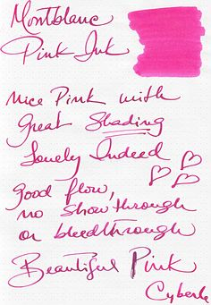Mont Blanc Pink Ink Review by Cyber6