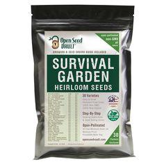 11,000 Non GMO Heirloom Vegetable Seeds Survival Garden 30 Variety Pack