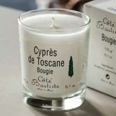 The Cote Bastide Cypress Candle has a perfume base from the perfume capital of the world: Grasse, France. It is a true scent match.