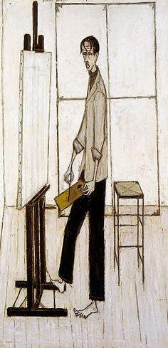 Bernard Buffet - Le peintre - 1948, oil on canvas - 200 x 94 cm