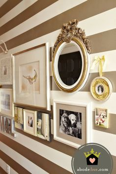 abode love: a man's home is his wife's castle #gallerywall