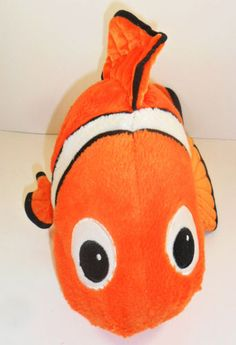 "Finding Nemo Clown Fish Plush Disney Stuffed Animal 19"""
