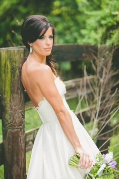 Love this bride's style!    Photography by brandonchesbro.com