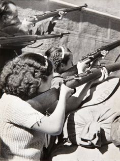 "fnhfal: "" Spanish Civil War Women at the Siege of the Alcázar in Toledo """