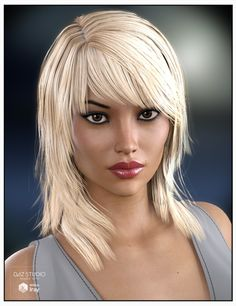 Sally Hair for Genesis 3 Female(s) and Genesis 2 Female(s) | 3D Models and 3D Software by Daz 3D