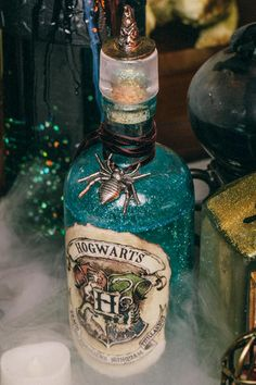 DIY Harry Potter Potions for Halloween or birthday party: Hogwarts Potion
