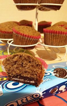 Briosa Oreo Oreo, Muffins, Desserts, Food, Tailgate Desserts, Deserts, Essen, Muffin, Dessert