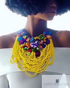 www.cewax.fr love this statement necklace ethno tendance, style ethnique…