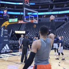 Russell Westbrook goes through his pregame routine in Denver for Oklahoma City Thunder/Denver Nuggets 5pm/et NBA League Pass!