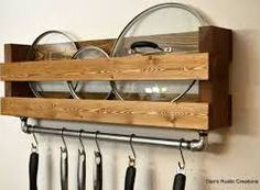 wall mounted lid holder cooking - Google Search