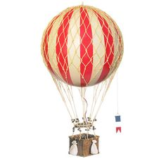 True Red Royal Aero Hot Air Balloon Model Authentic Models Miscellaneous Home Accessories