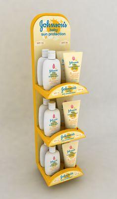 Point of Purchase Design | POP Design | POS Design | Health & Beauty POP | Johnsons Baby Sun Care by Ricky Cordero at Coroflot.com