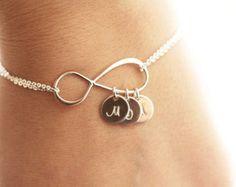 Infinity Armband personalisierte Schmuck erste von BIJOUXbyMeg