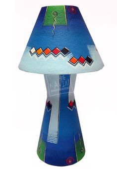 Handmade Lampshades decorated with Indian, Tribal, Traditional Art Works, Created by Kavin Crafts, Pondicherry , India