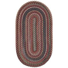 Capel Sherwood Forest Red Area Rug Rug Size: Oval 2' x 3'