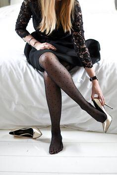 Calzedonia propose des bas originaux, qui ne sombrent pas dans le vulgaire, pour des tenues de fêtes des plus réussies!