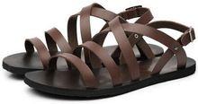 Caliente venta hombre sandalias de verano de cuero moda casual hombres sandalias planas del gladiador sandalias hombres hombres de marca de envío rápido(China (Mainland))