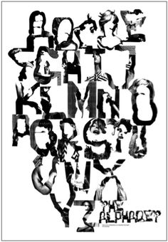 The Alphabet by M/M Paris, human typography