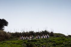 Bridal party at Polhawn Fort. Modern wedding photographer www.toastofleeds.co.uk