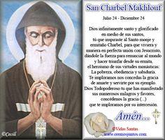 Rincón de la Oración: Estampas Oraciones de San Charbel Makhlouf