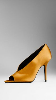 Satin Peep-Toe Pumps | Burberry