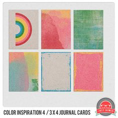 Color Inspiration Artistic Free Project Life 3x4 Journaling Cards