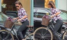 Pippa Middleton, 35, has been spotted out and about on her bike in London with a new shoulder length bob, after previously sporting longer locks flowing well past her shoulders.