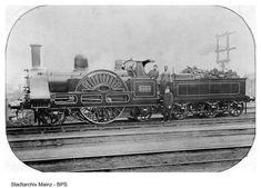 '3020 Cornwall', an early LNWR express locomotive (built 1847, as running circa 1890)